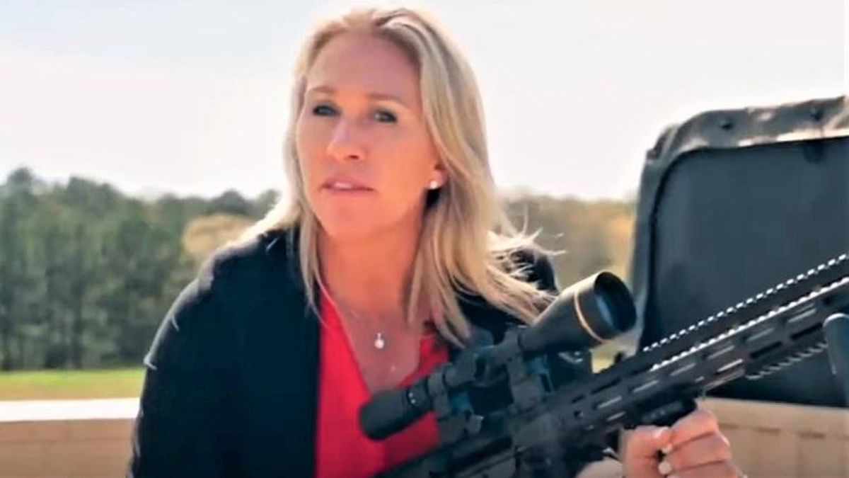 Enraged Democrat forces Republicans to view photo Marjorie Taylor Greene posted holding an AR-15 next to 'The Squad'