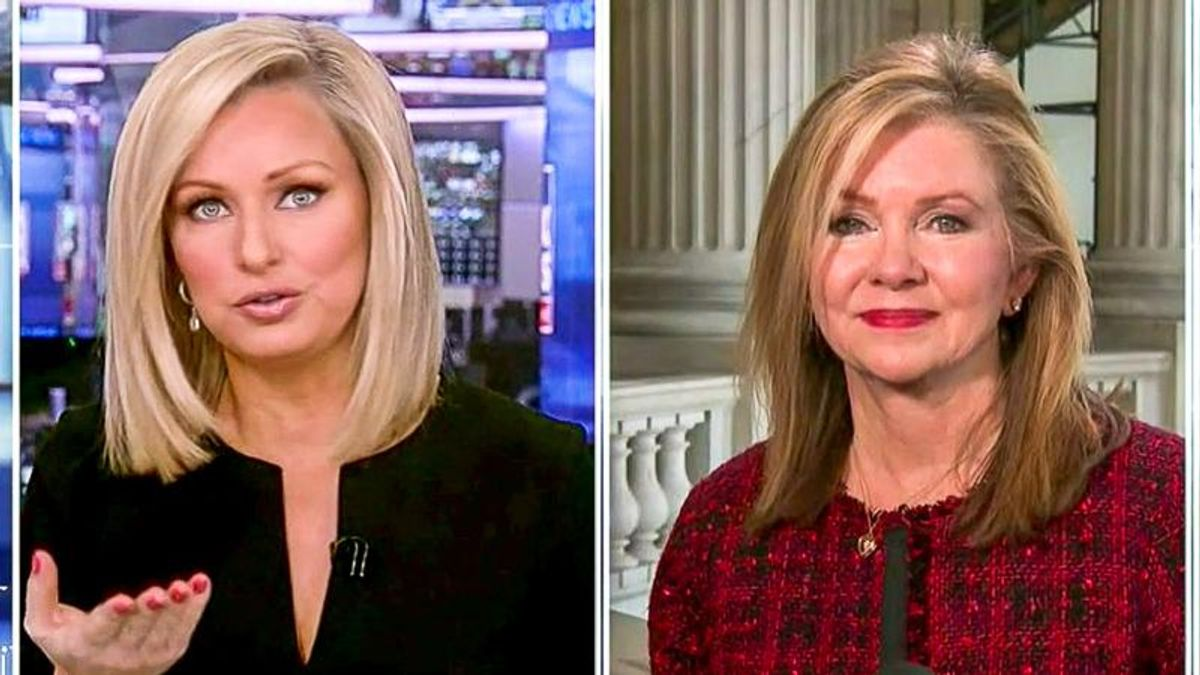 'You should probably have a thought on this': Fox News calls out Marsha Blackburn on Marjorie Taylor Greene