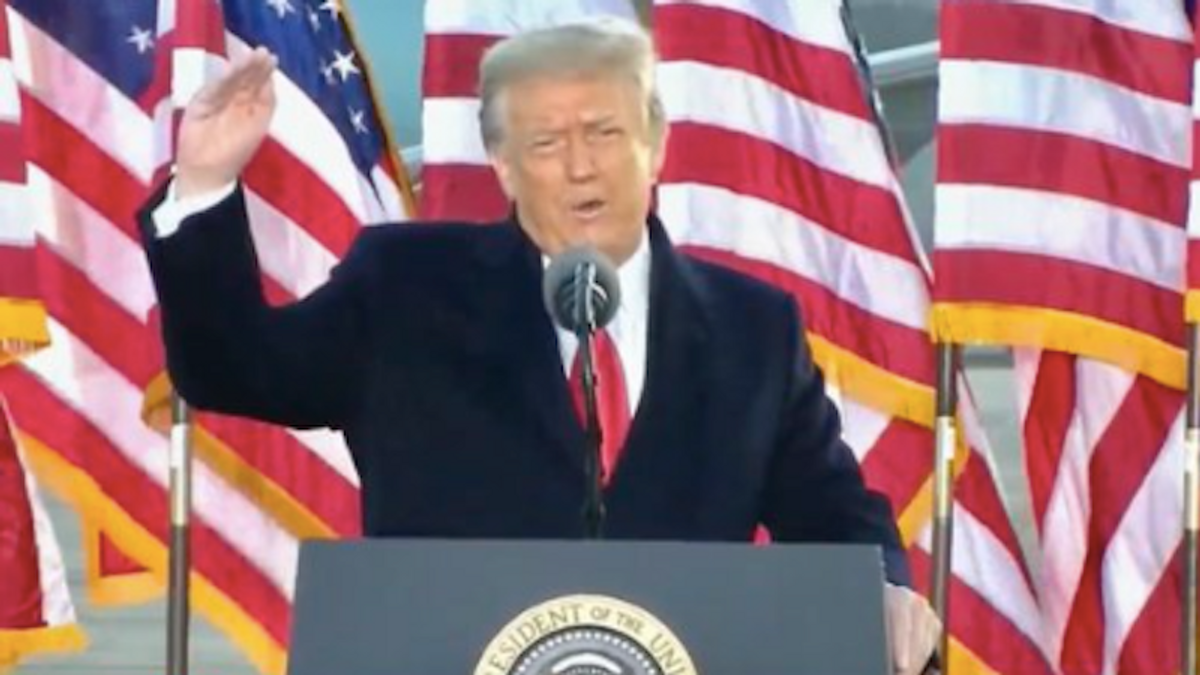 Trump ignites mockery after inadvertently delivering a 'dose of truth' in his final speech as president