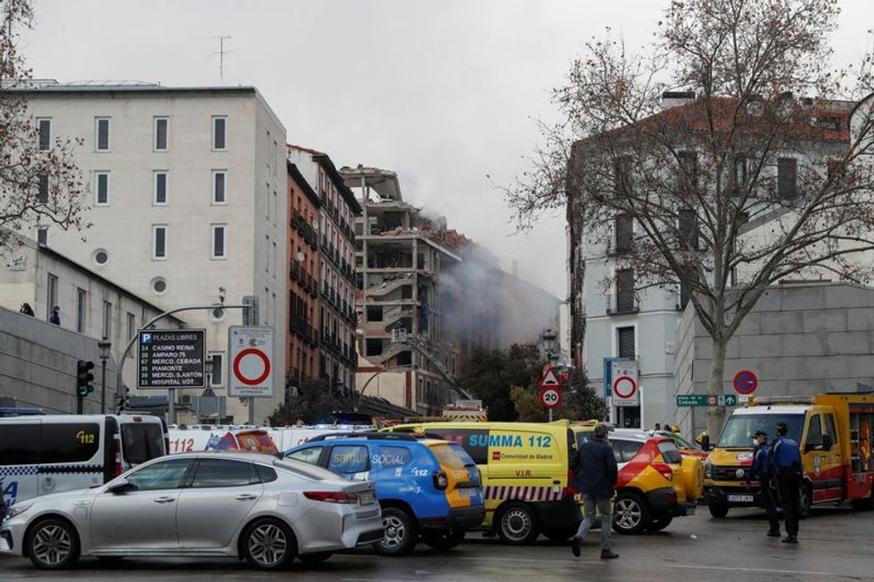 At least two dead after blast wrecks building in central Madrid