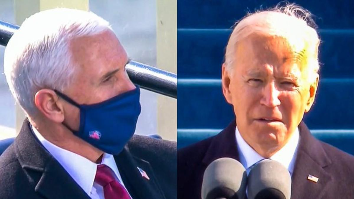WATCH: NBC repeatedly cuts to Mike Pence as Joe Biden mentions 'lies' and 'manufactured' facts