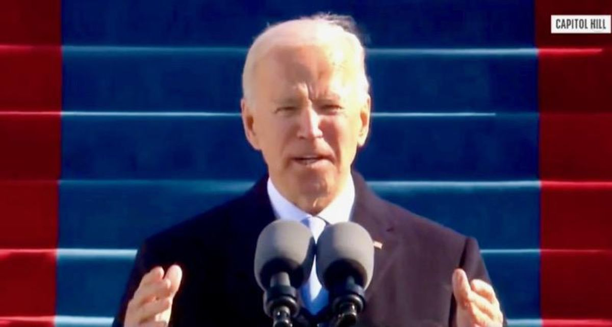 Joe Biden promises 'we will defeat' political extremism and white supremacy in inauguration address