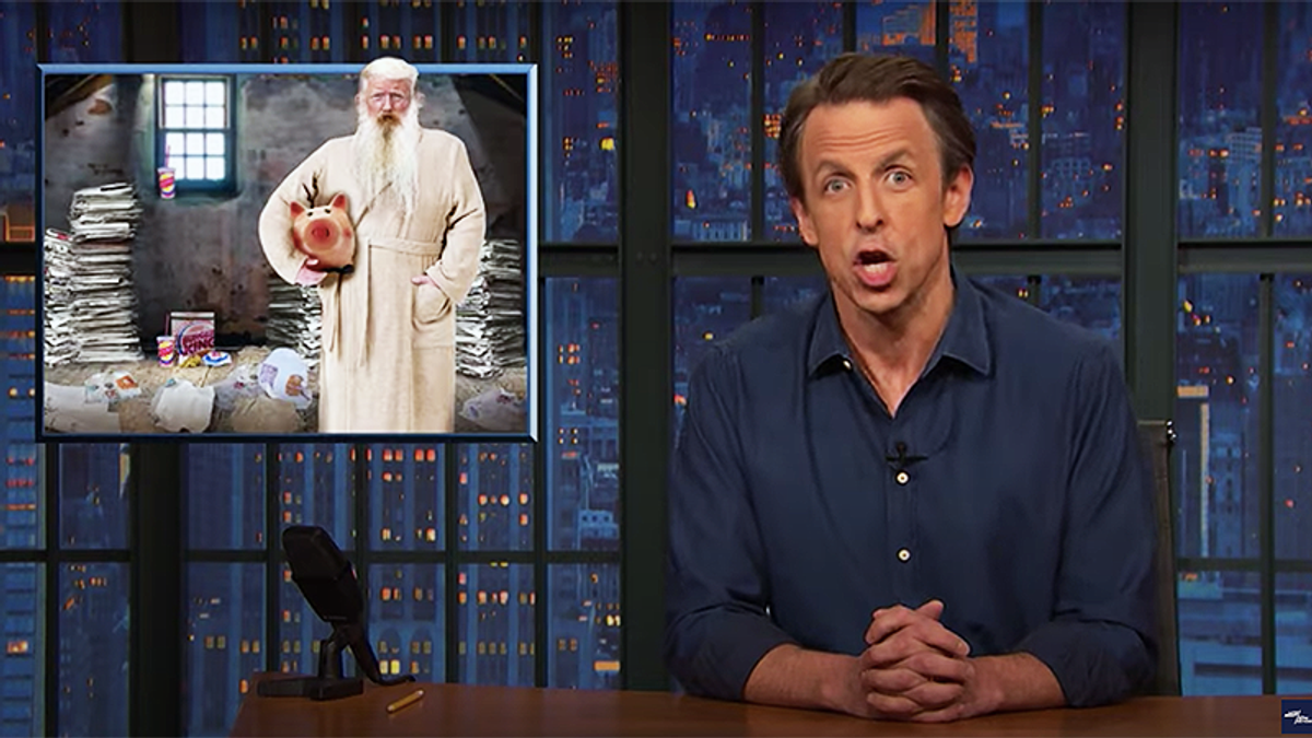 Seth Meyers details the work done to clean the White House post-Trump: 'Getting ketchup off the Constitution'