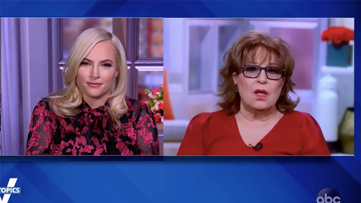 'I don't want to be an enemy': The View's Meghan McCain plays the victim after Joy Behar attacks Ted Cruz