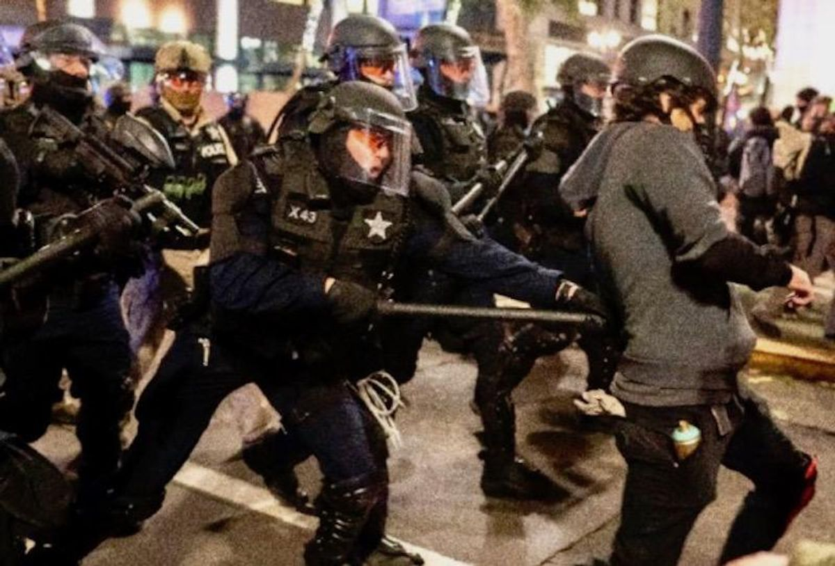 Protests hit Portland, Seattle hours after Biden inauguration