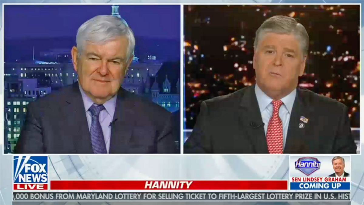 WATCH: Newt pushes conspiracy theory Biden White House wants to 'exterminate' Republicans