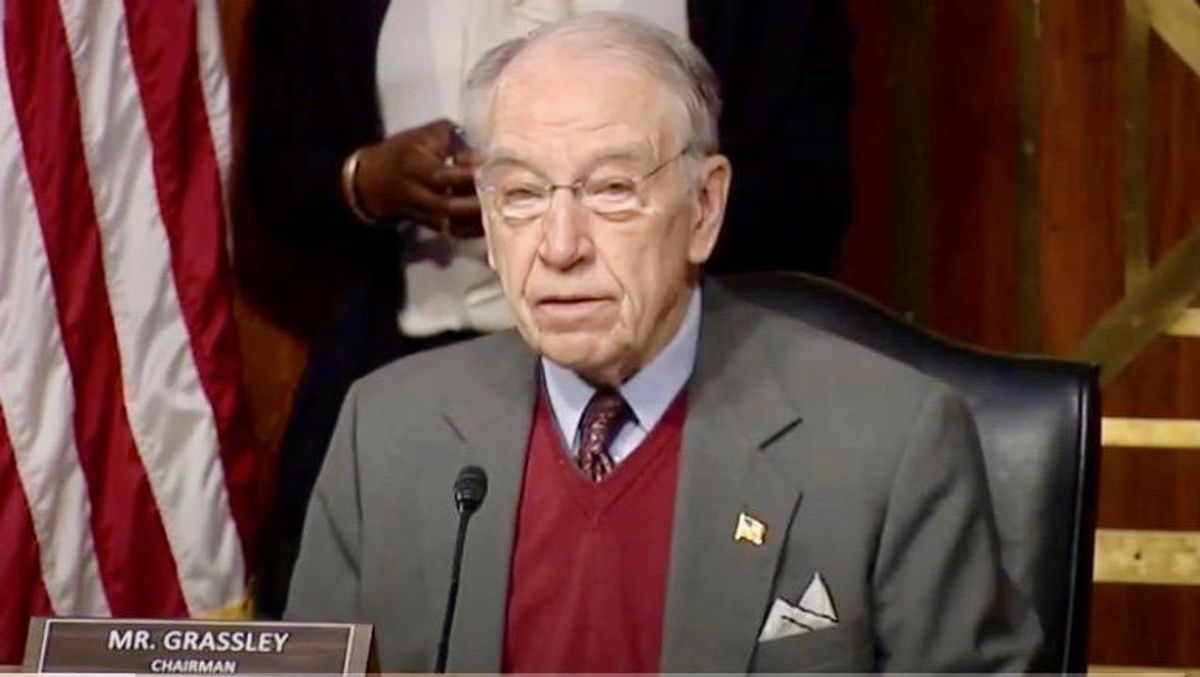 'Disingenuous dumpster fire' Chuck Grassley blasted for saying Biden should 'have control' over House and Senate Dems