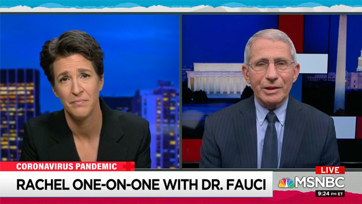 WATCH: Dr. Fauci opens up to Maddow about Trump administration blocking him from her show