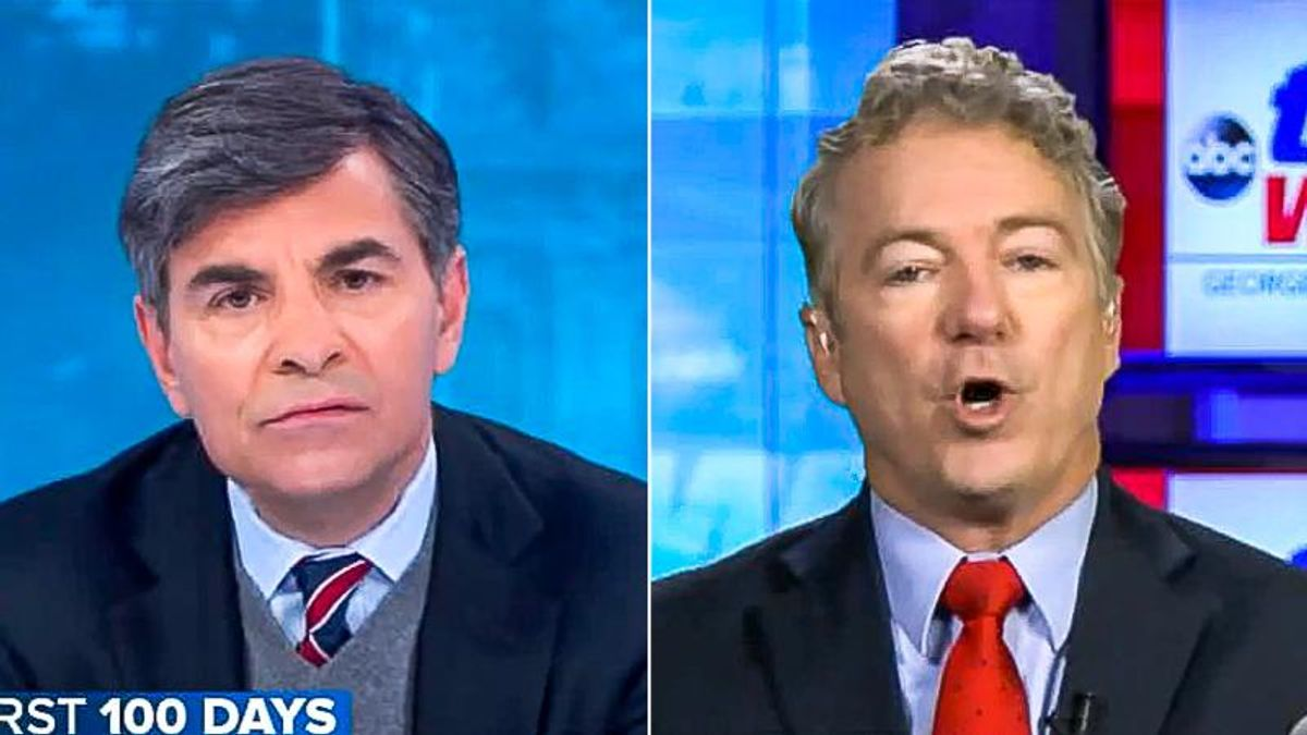 'You're saying we're all liars': Rand Paul melts down on ABC when he's confronted with election 'lies'