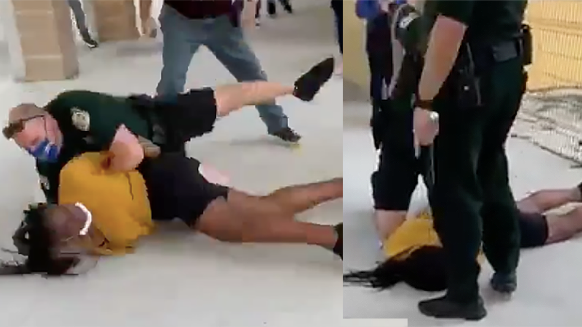 Florida school resource officer caught on video as he knocks Black student unconscious