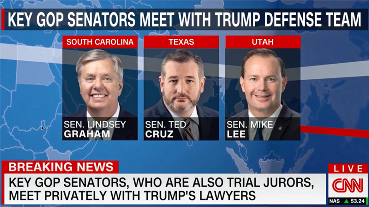 GOP senators caught plotting with Trump lawyers after vowing to be impartial jurors: report