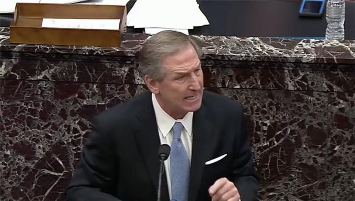 WATCH: Trump lawyer snaps at senators for laughing at his new demands