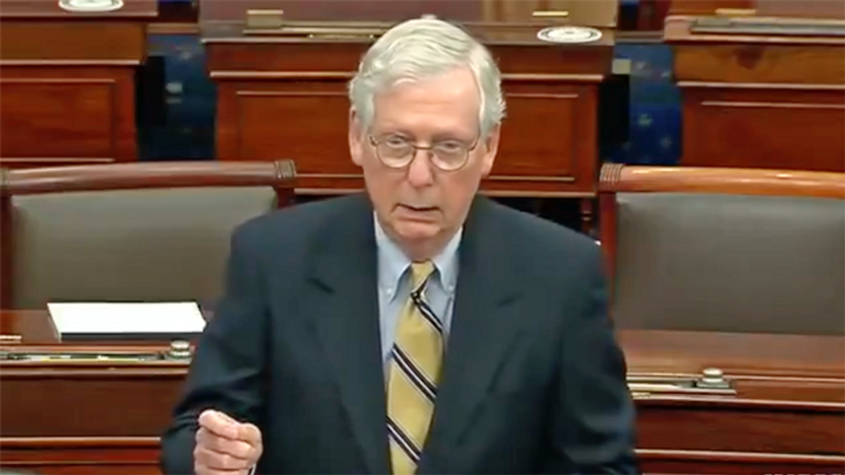 McConnell admits Trump 'responsible' for insurrection -- after voting against conviction