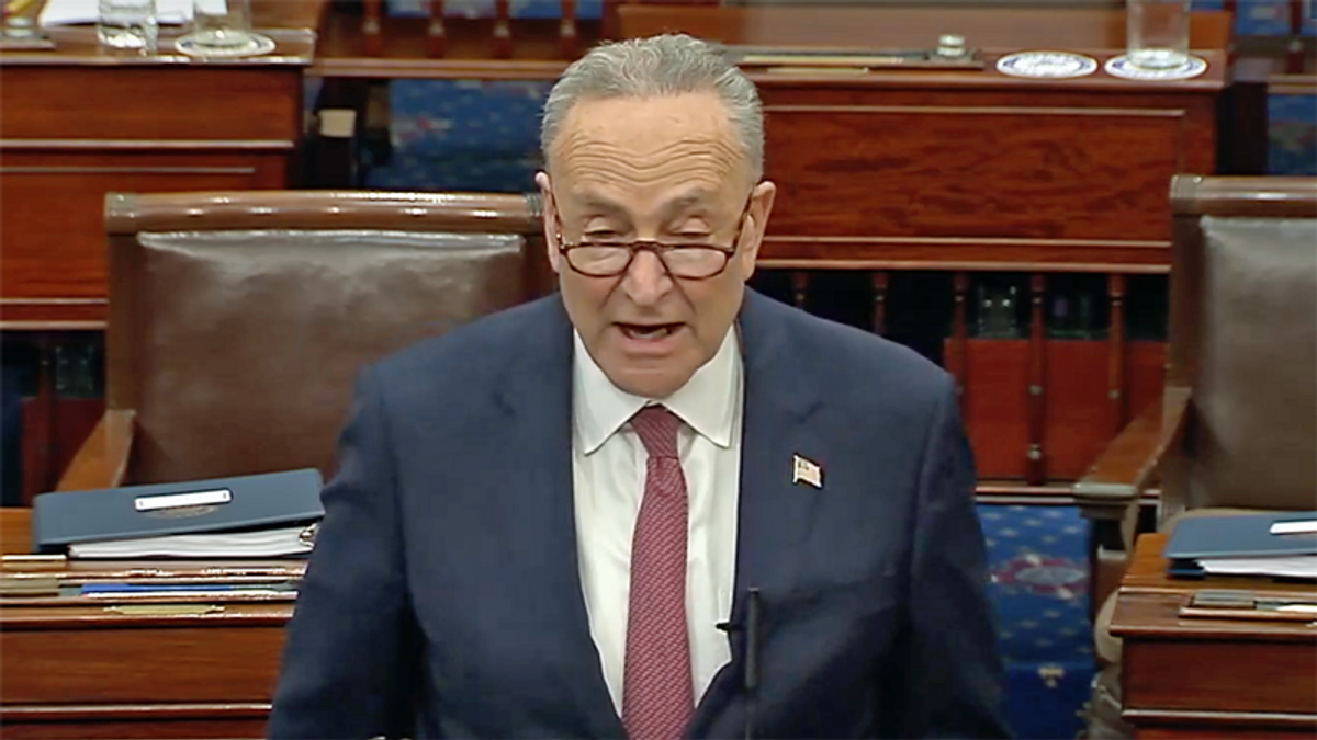 WATCH: Chuck Schumer rips Republicans for 'a vote of infamy' after Trump's acquittal for inciting insurrection