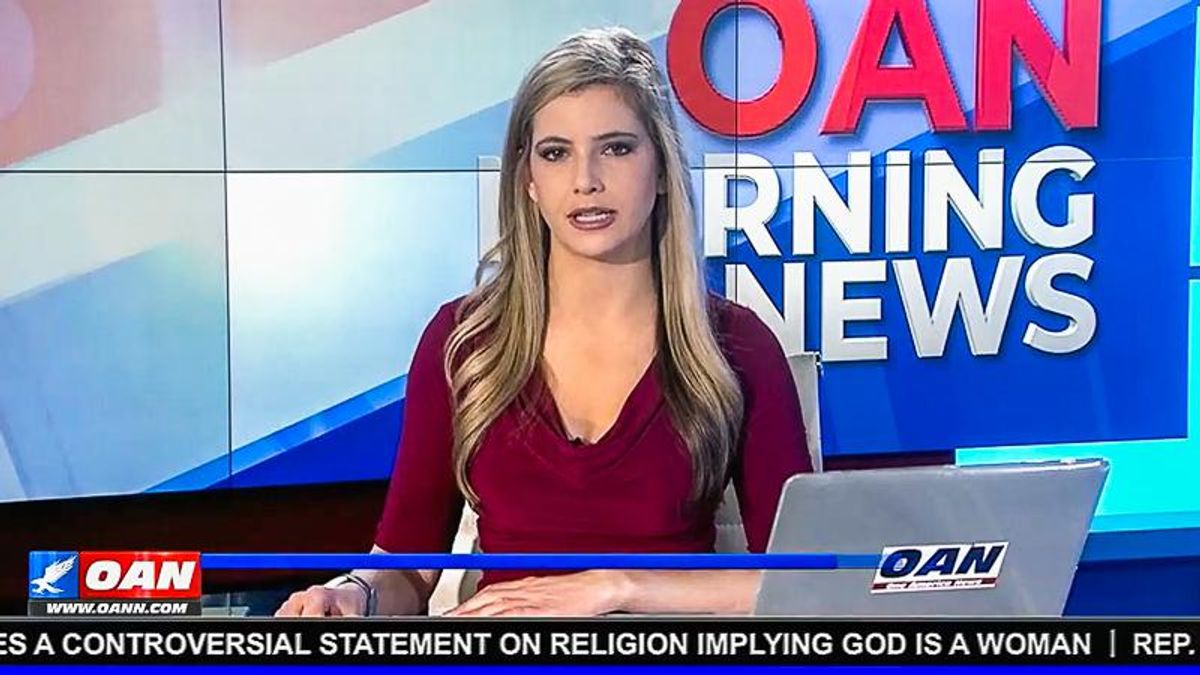 OAN lashes out at Eric Swalwell for calling God a woman: 'He should not be trying to lecture people'