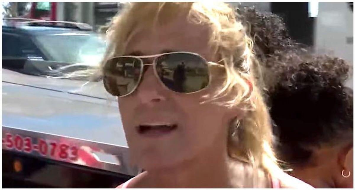 Trump supporter unleashes QAnon rant at post-impeachment Palm Beach rally