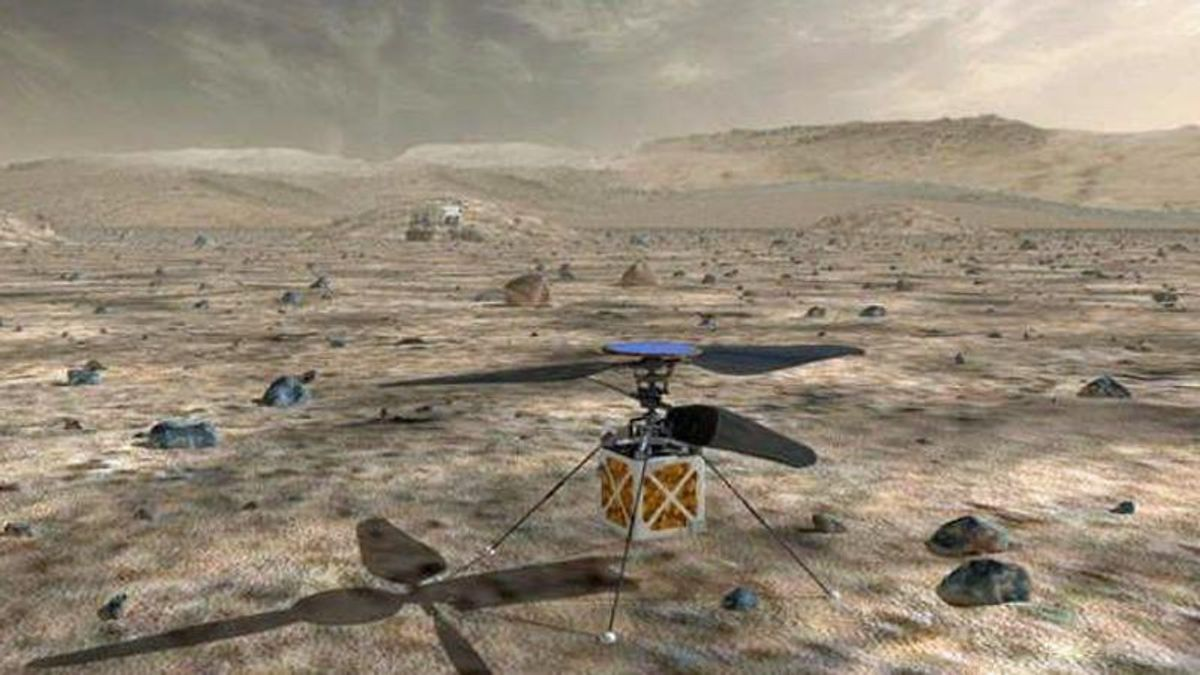 NASA hopes to fly a helicopter on Mars -- for the very first time