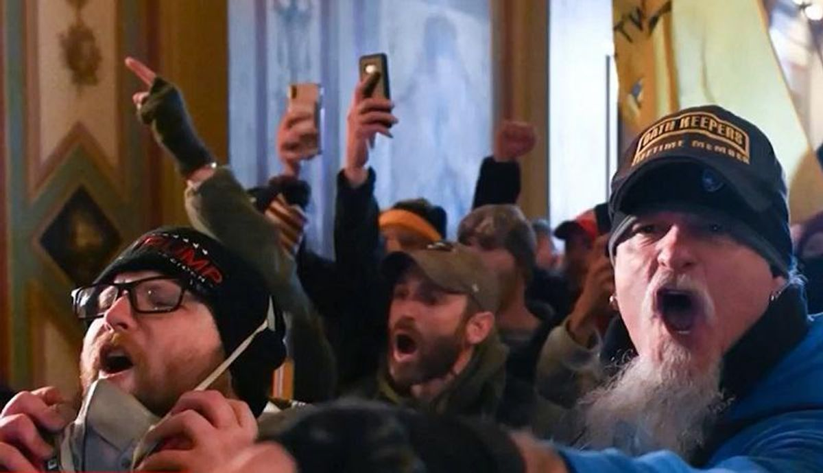 Oath Keepers leader refuses to back down after members are arrested for involvement in Trump insurrection