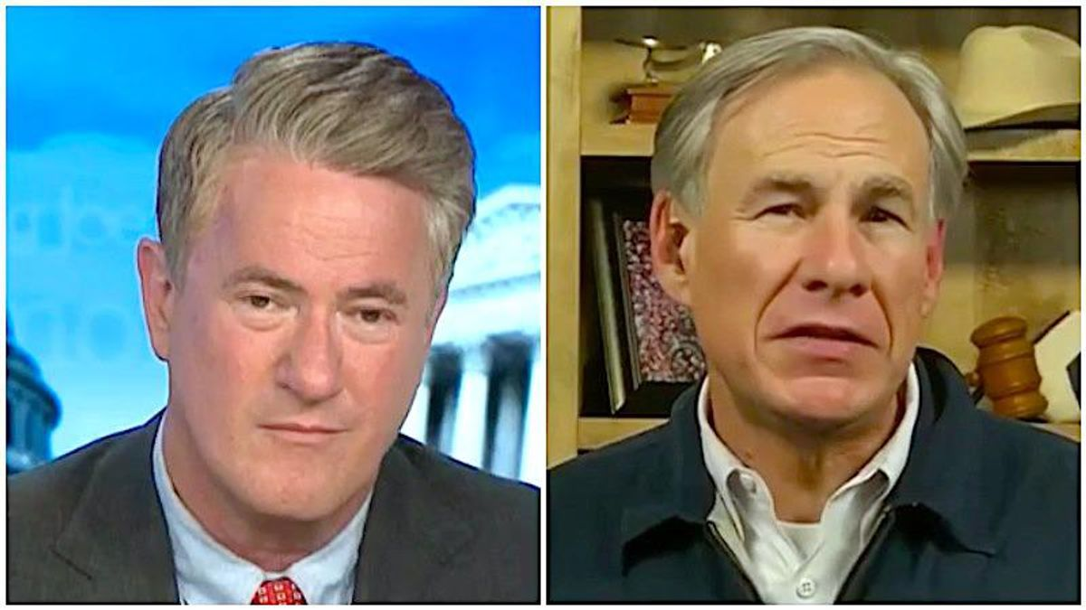 MSNBC's Morning Joe busts Texas governor's 'preposterous lie' about power outage: 'It's all his fault!'