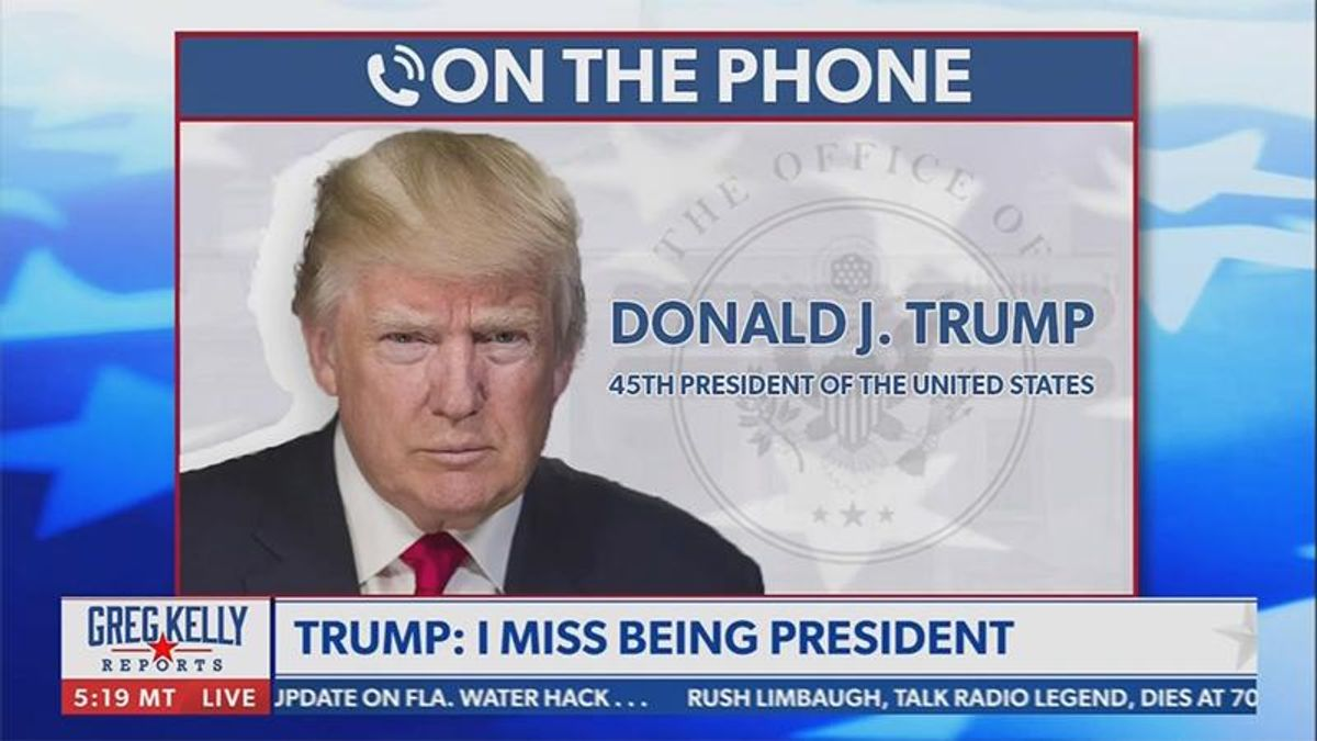 Donald Trump: I miss being president