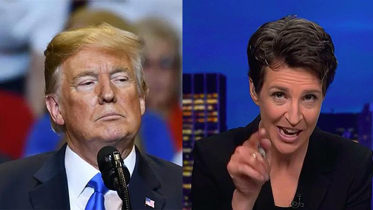 Maddow nails Trump for being sad there 'weren't more angry people with lacrosse sticks' in Capitol attack