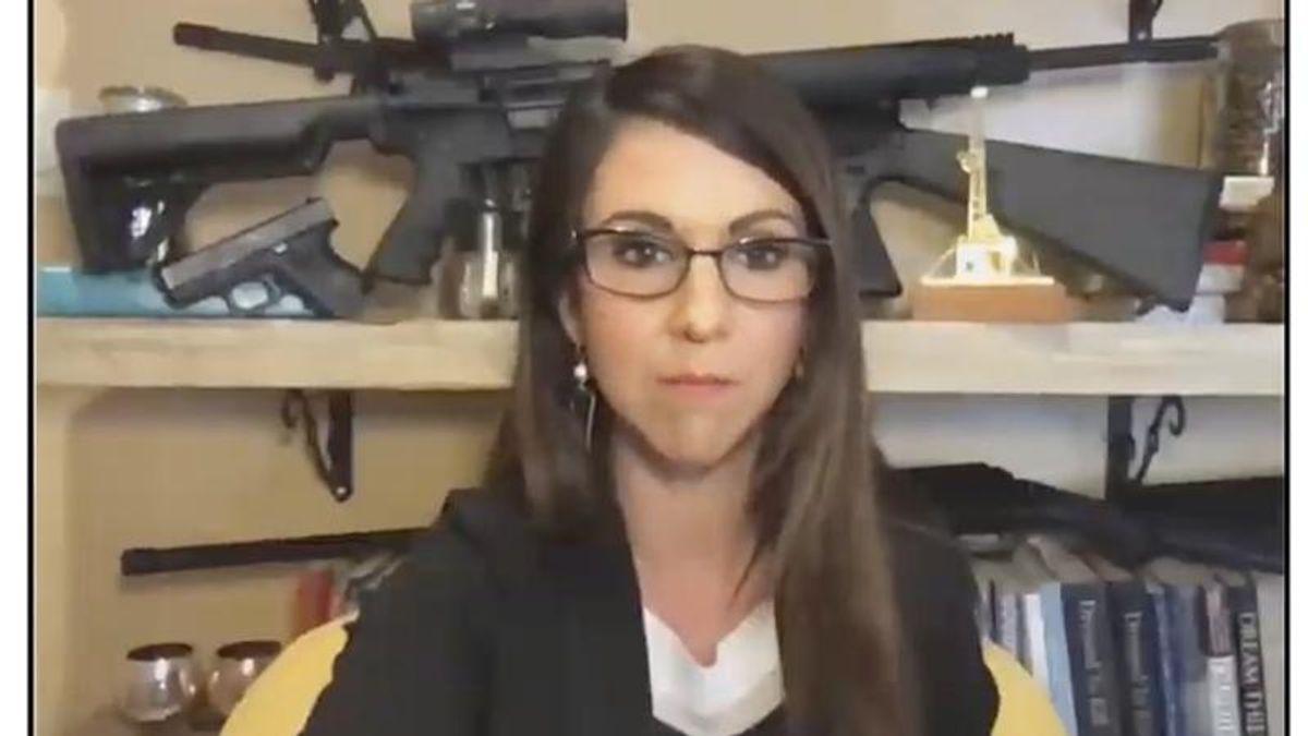 Republican Lauren Boebert mocked by her colleague for gun-filled Zoom background