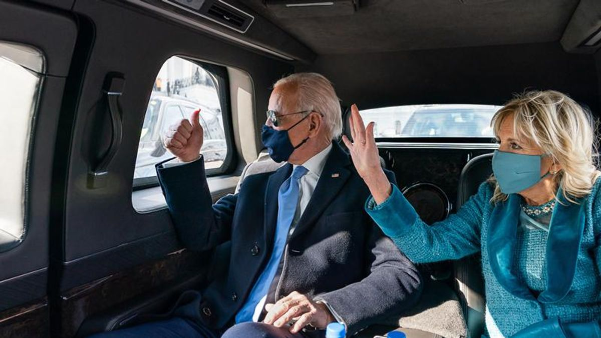 Here's why Joe Biden made an unannounced visit to the Watergate Complex on Saturday