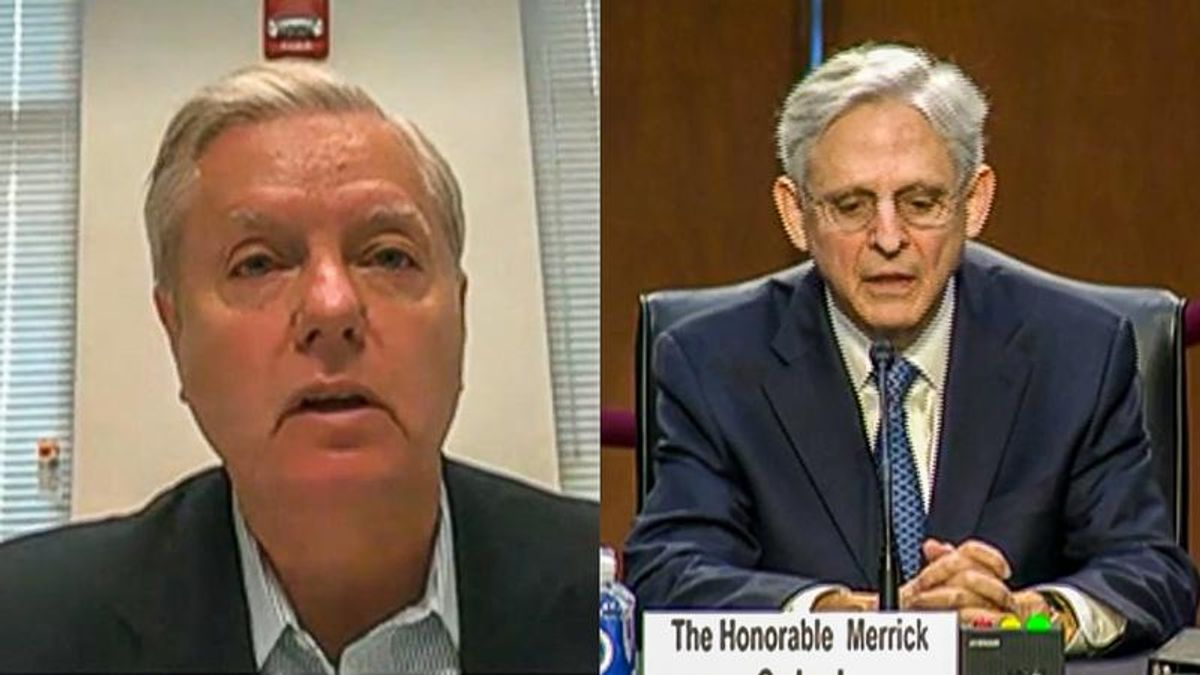 Lindsey Graham kicks off Merrick Garland hearing by ranting about 'anarchists' in Portland
