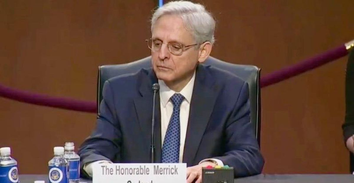 WATCH: Merrick Garland tears and chokes up when asked to describe his personal experience confronting hate