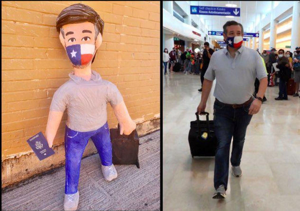 'Therapeutic' Ted Cruz pinata draws cheers from Texans