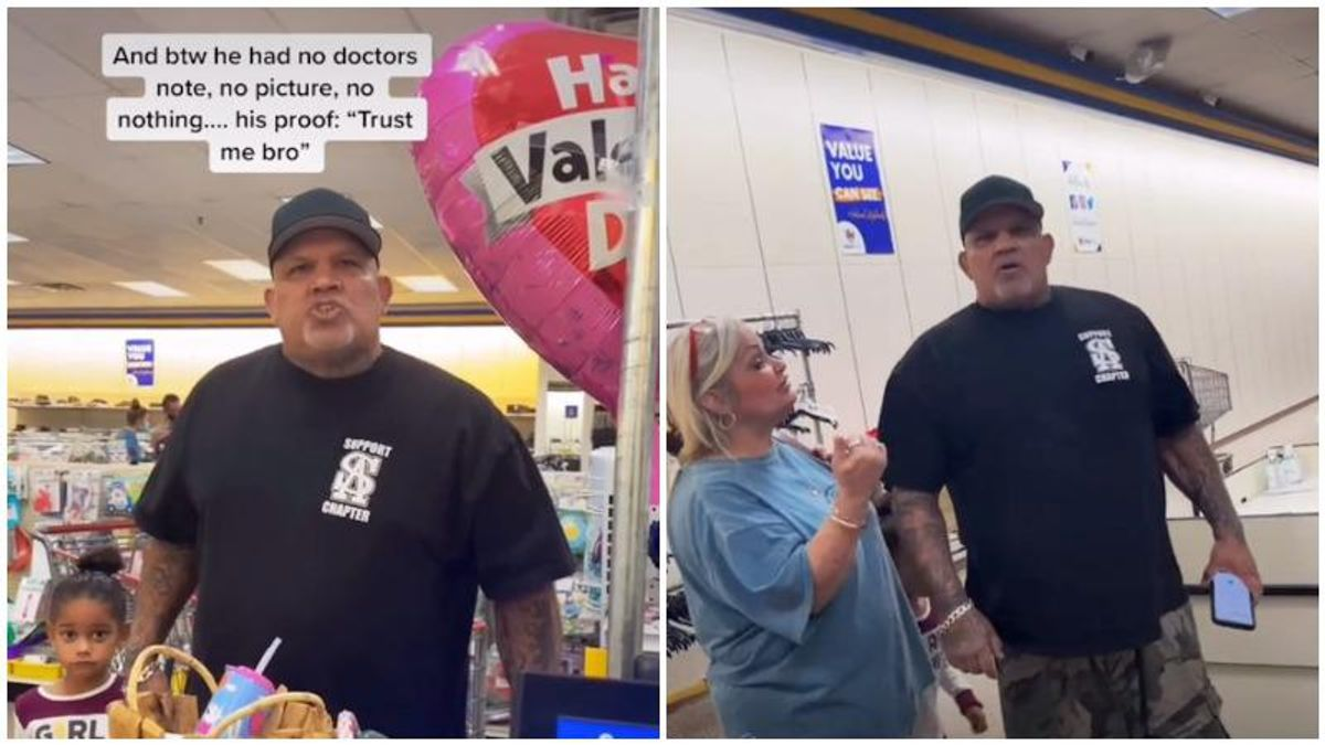 Anti-masker throws a racist tantrum after cashier refuses to ring him up – and it's all caught on video