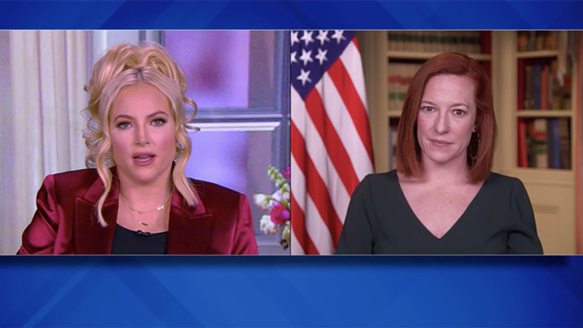 Jen Psaki politely schools The View's Meghan McCain after she rants about Biden putting kids in 'cages'