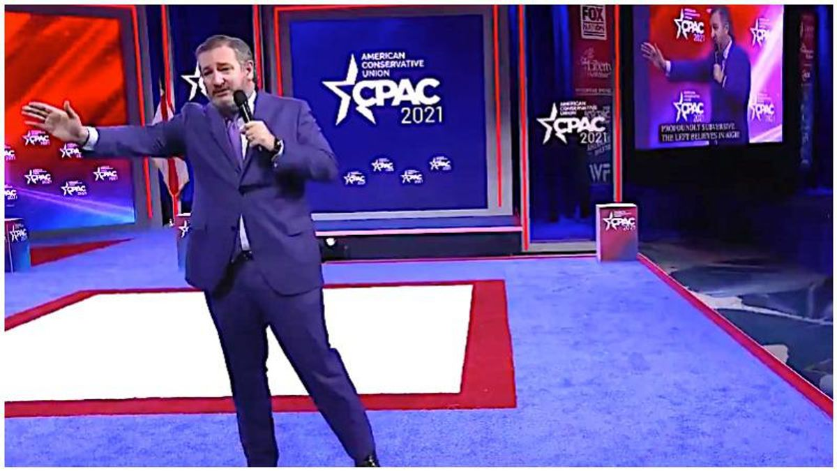 'Unhinged lunatic': Ted Cruz mocked after 'embarrassing' himself with bizarrely over-the-top CPAC rant