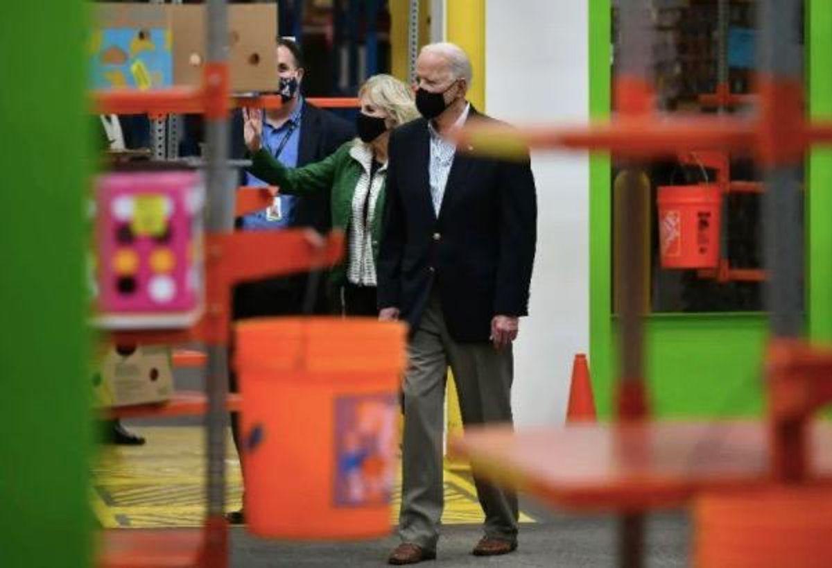 Joe Biden tours Texas storm relief efforts