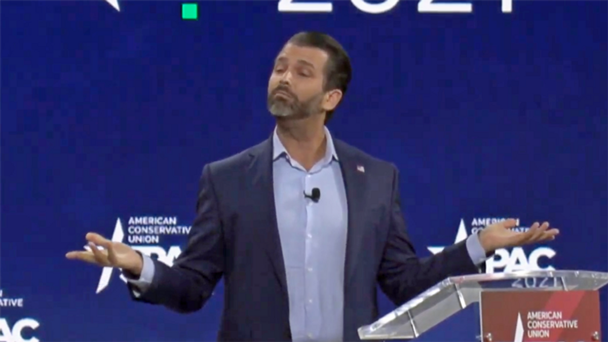 Donald Trump Jr bombs at CPAC -- and gets scorched for lying that 'radical' Dems 'banned the Muppets'