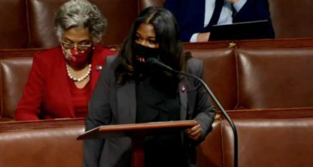 Cori Bush demands accountability for every Republican who incited 'vile white supremacist attack' in fiery floor speech