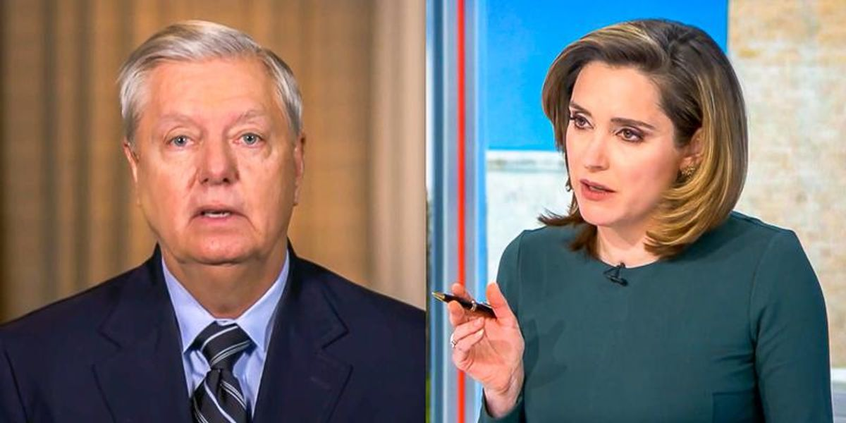'You can't argue a case on its merits': CBS host busts Lindsey Graham on calls to dismiss impeachment