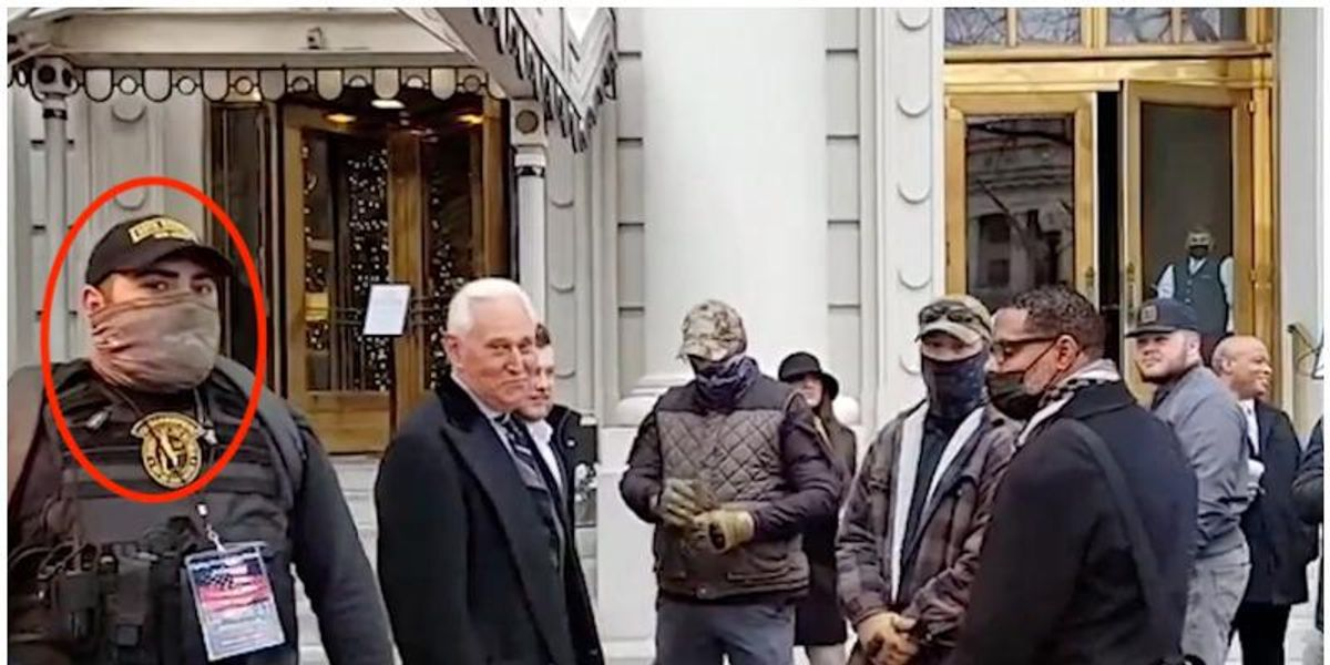 REVEALED: Oath Keeper who provided security for Roger Stone on Jan 6 later partook in the Capitol riot