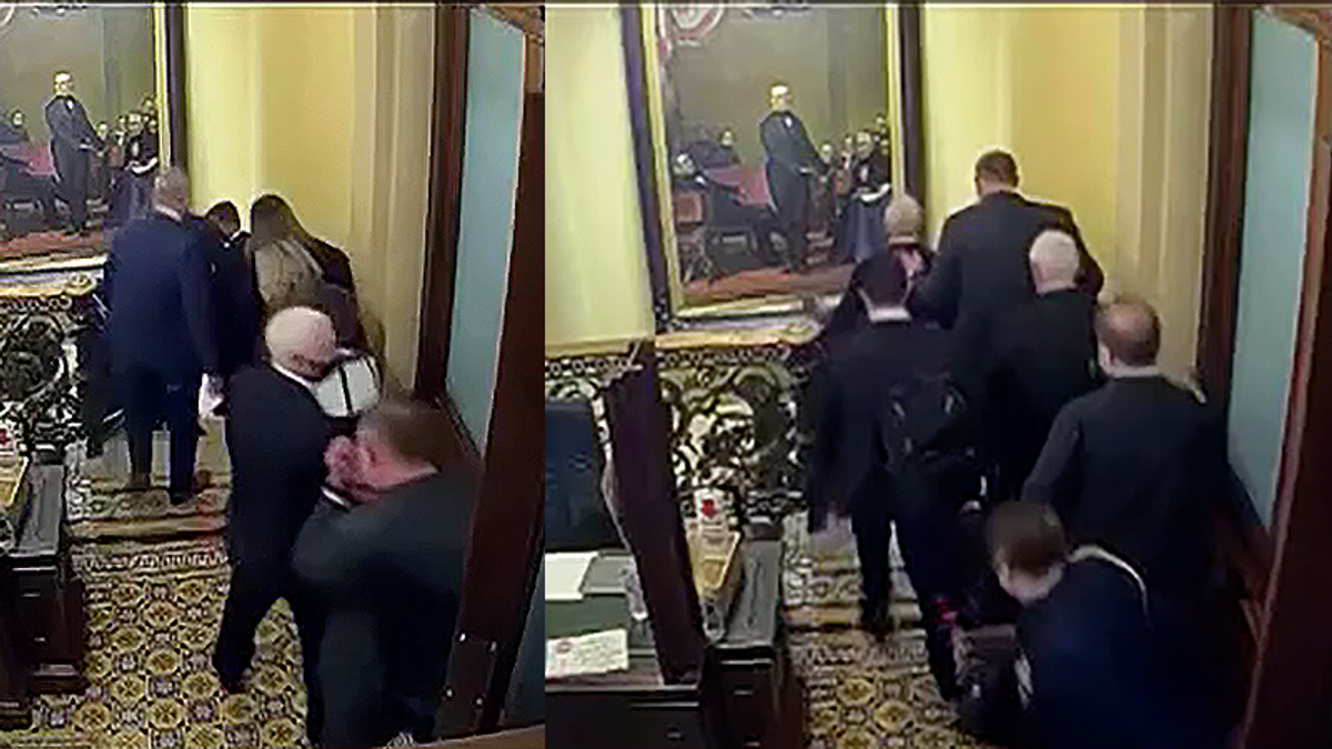 WATCH: Never-before-seen security footage reveals Mike Pence's escape from Capitol rioters