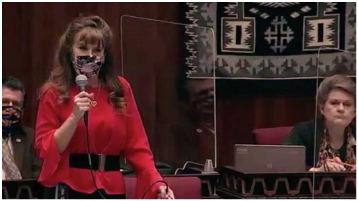WATCH: GOP lawmaker blurts out a bizarre remark before voting to kill Arizona's mask mandate