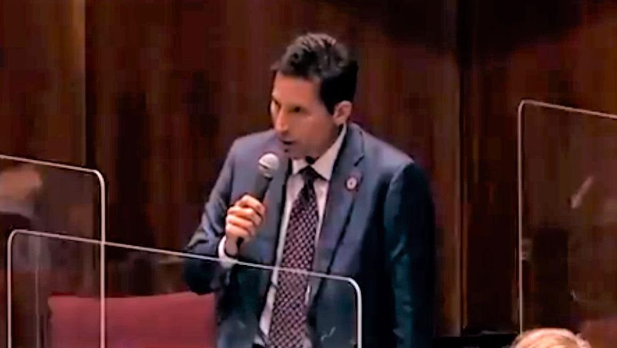 WATCH: Arizona Republican attacks mask mandate -- and says we didn't need masks to contain AIDS