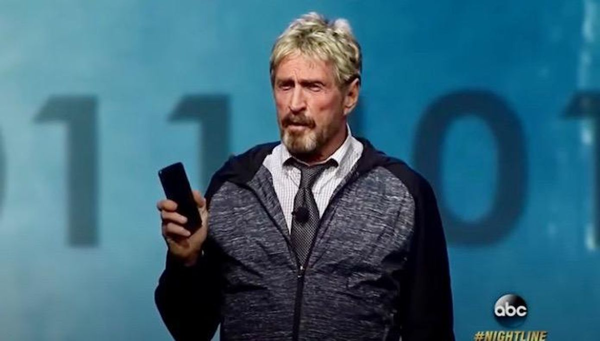 Software icon John McAfee charged in 'pump and dump' cryptocurrency scam on Twitter