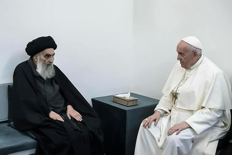 Pope Francis meets top Iraqi Shiite cleric in historic visit