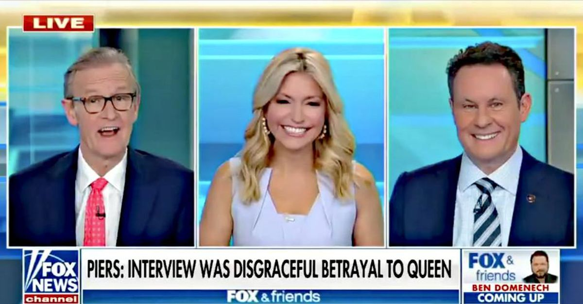 'White privilege power hour': Fox & Friends 'tone deaf' hosts slammed for ignoring racism in Meghan and Harry story