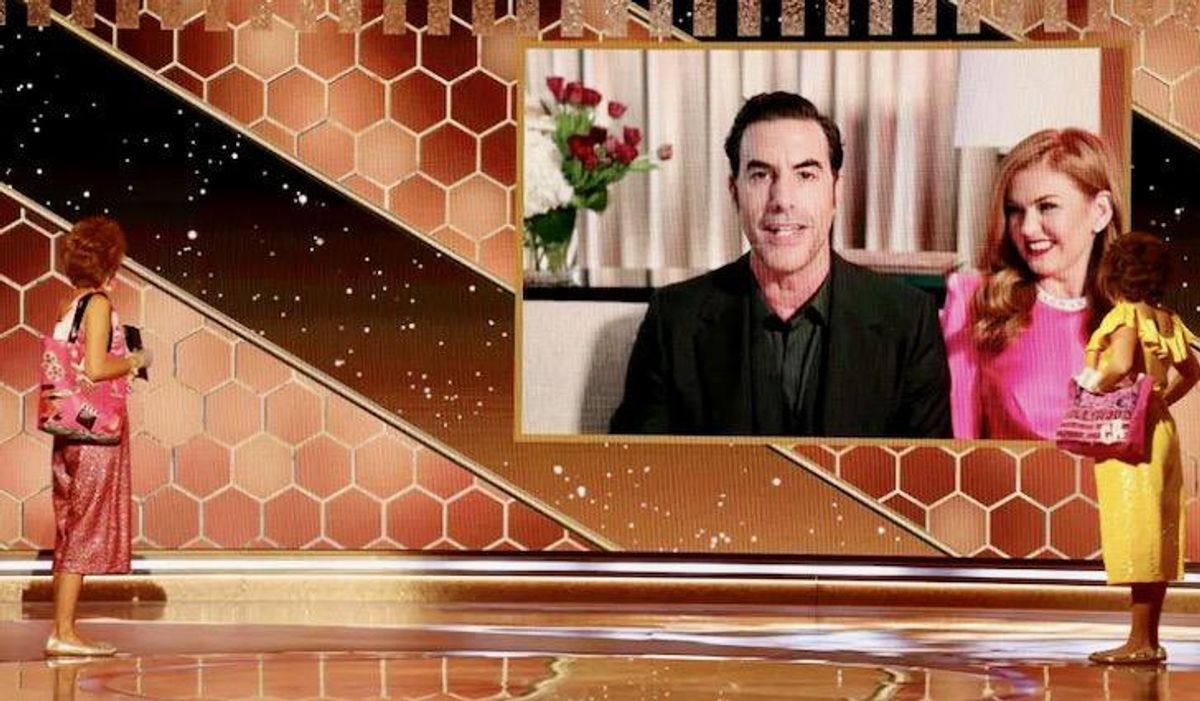 Sacha Baron Cohen: outrageous comedian with serious point, and Globes glory