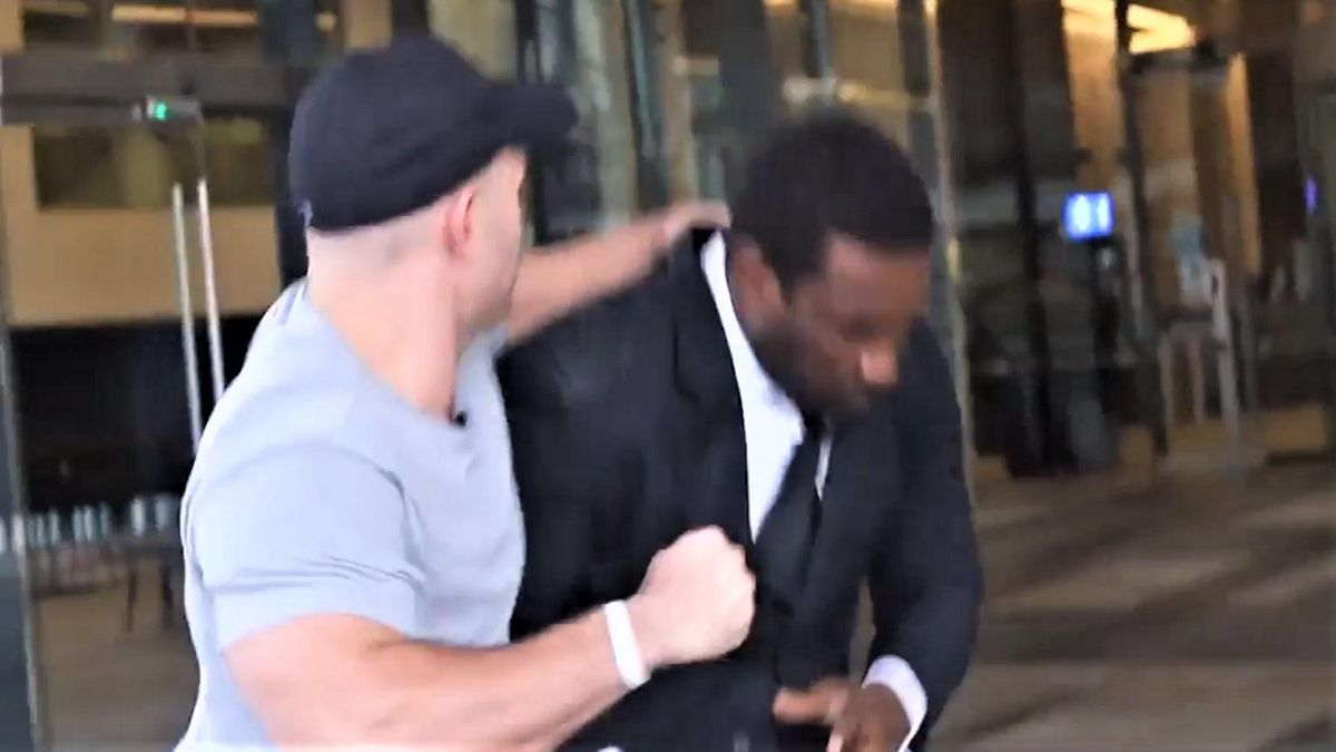 WATCH: Neo-Nazi calls Black security guard a 'monkey' before viciously assaulting him
