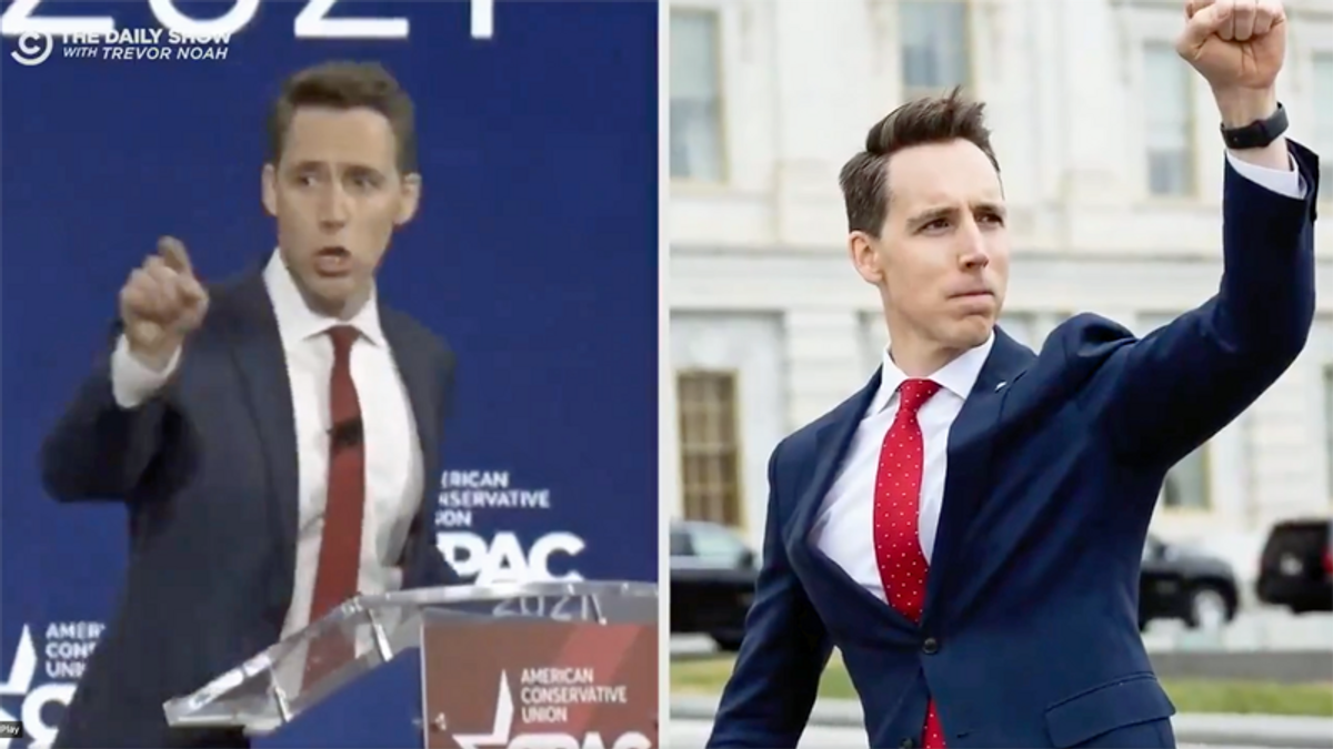 CPAC likened to Trump's insurrection in brutal The Daily Show mashup