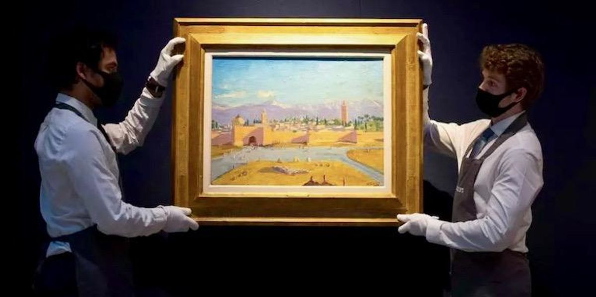 Churchill's 'most important' painting sells for £7 million