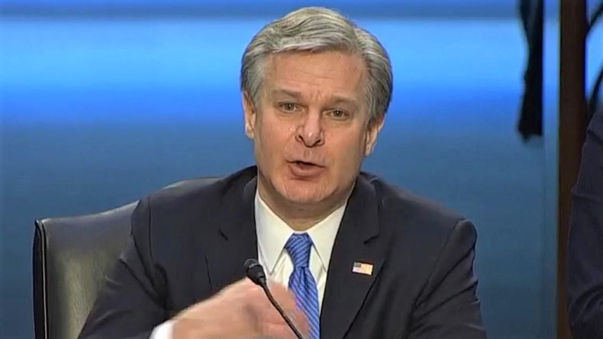 WATCH: FBI Director Wray debunks 'big lie' that Trump supporters weren't behind Capitol riots