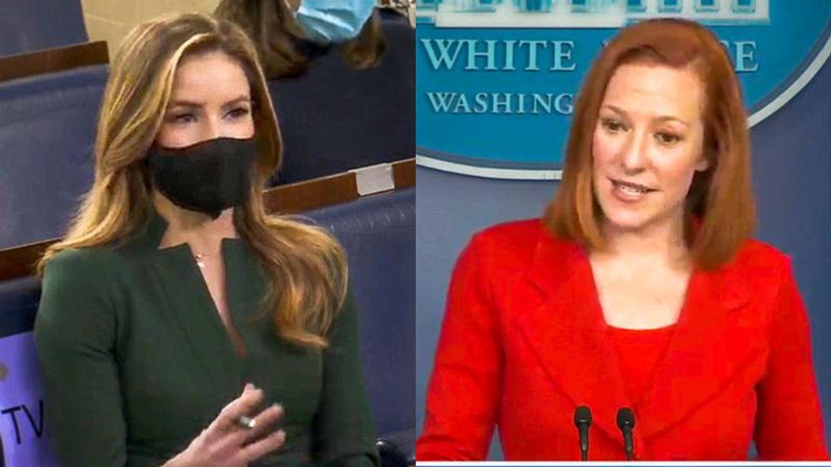 WATCH: Jen Psaki comes prepared for Fox News reporter's Dr. Seuss question
